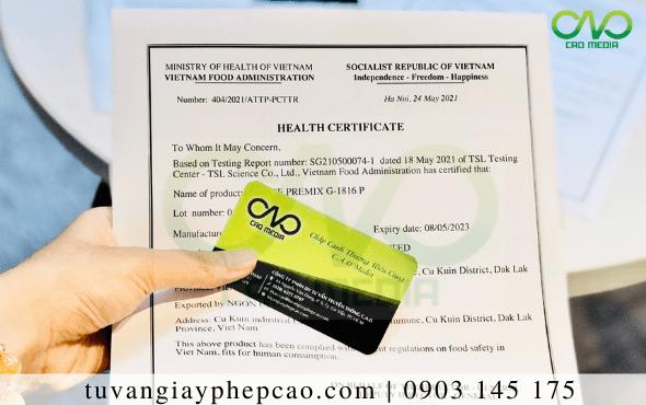 Quy trình xin giấy chứng nhận y tế cho bánh bao mè đen